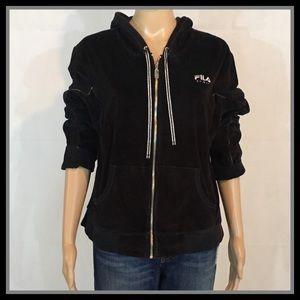 Fila Sport Full Zip Black Hoodie